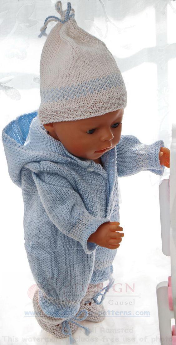 Baby born Kleidung selber stricken - Hier ist ein niedliches Baby ...