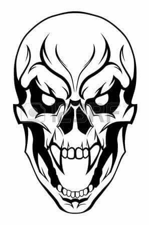 Skull Tattoo Design Skulls Drawing Skull Art Skull Stencil