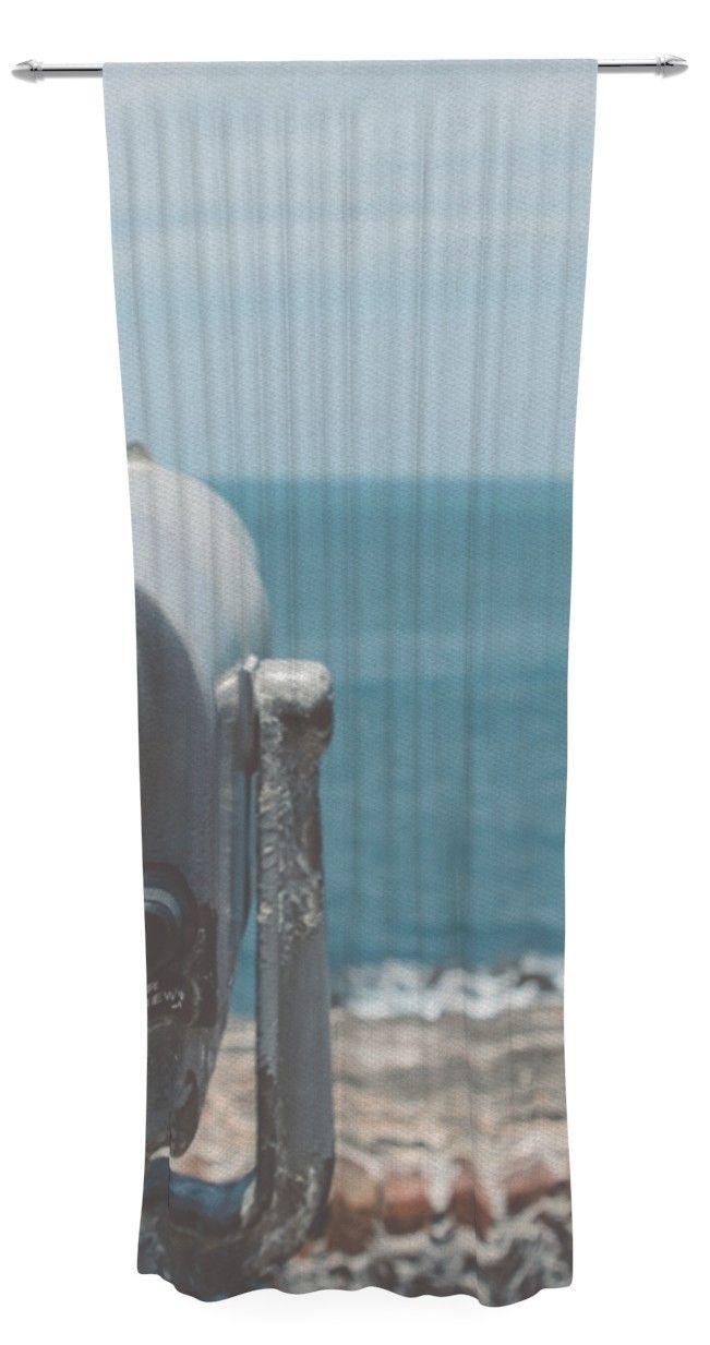 Ocean View by Nastasia Cook Sheer Curtain Panel