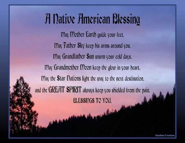 A Native American Blessing (With images) | Native american quotes ...