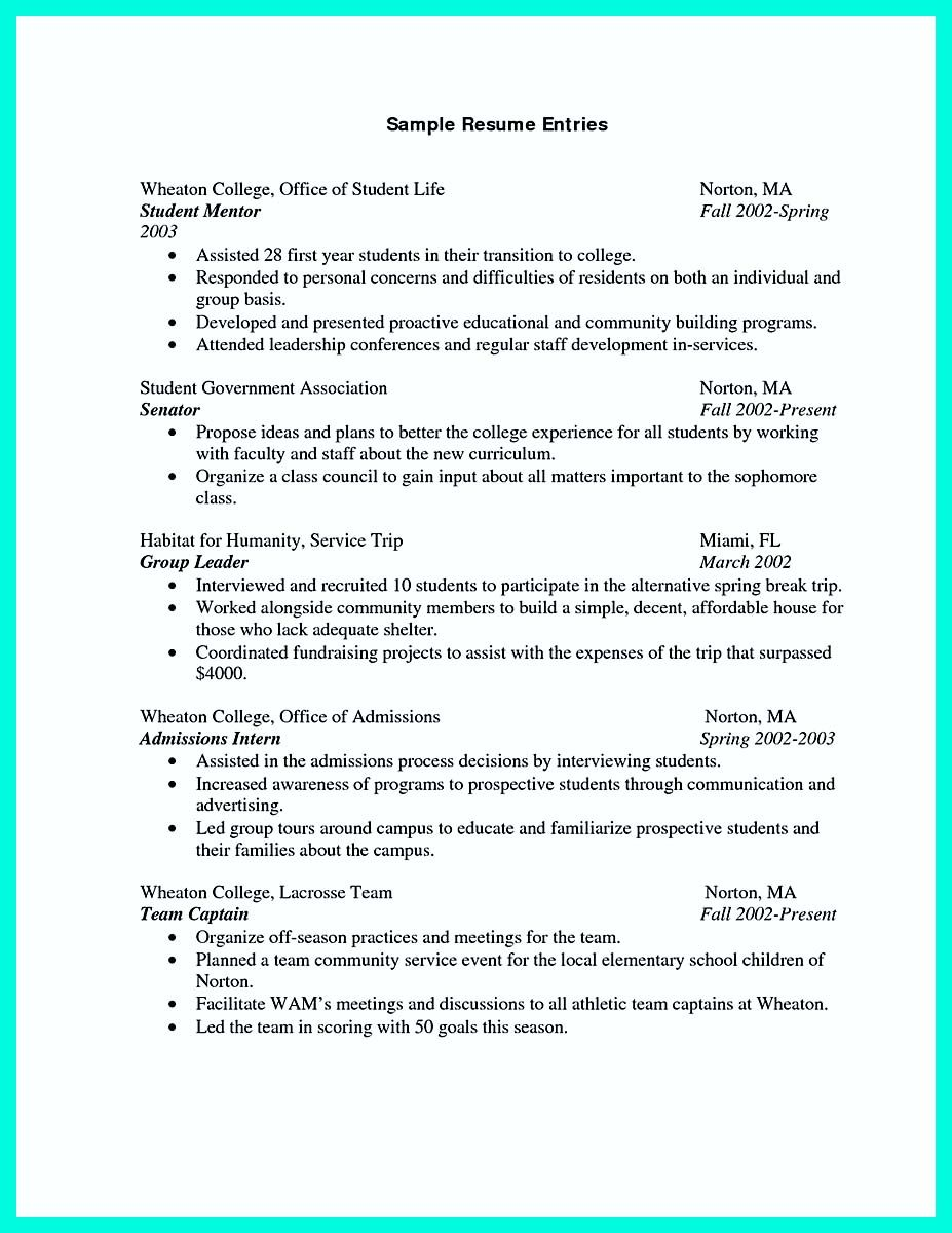 Cool Best College Student Resume Example To Get Job Instantly Check More At Http Snefci Org Best College Student Resume Example To Get Job Instantly