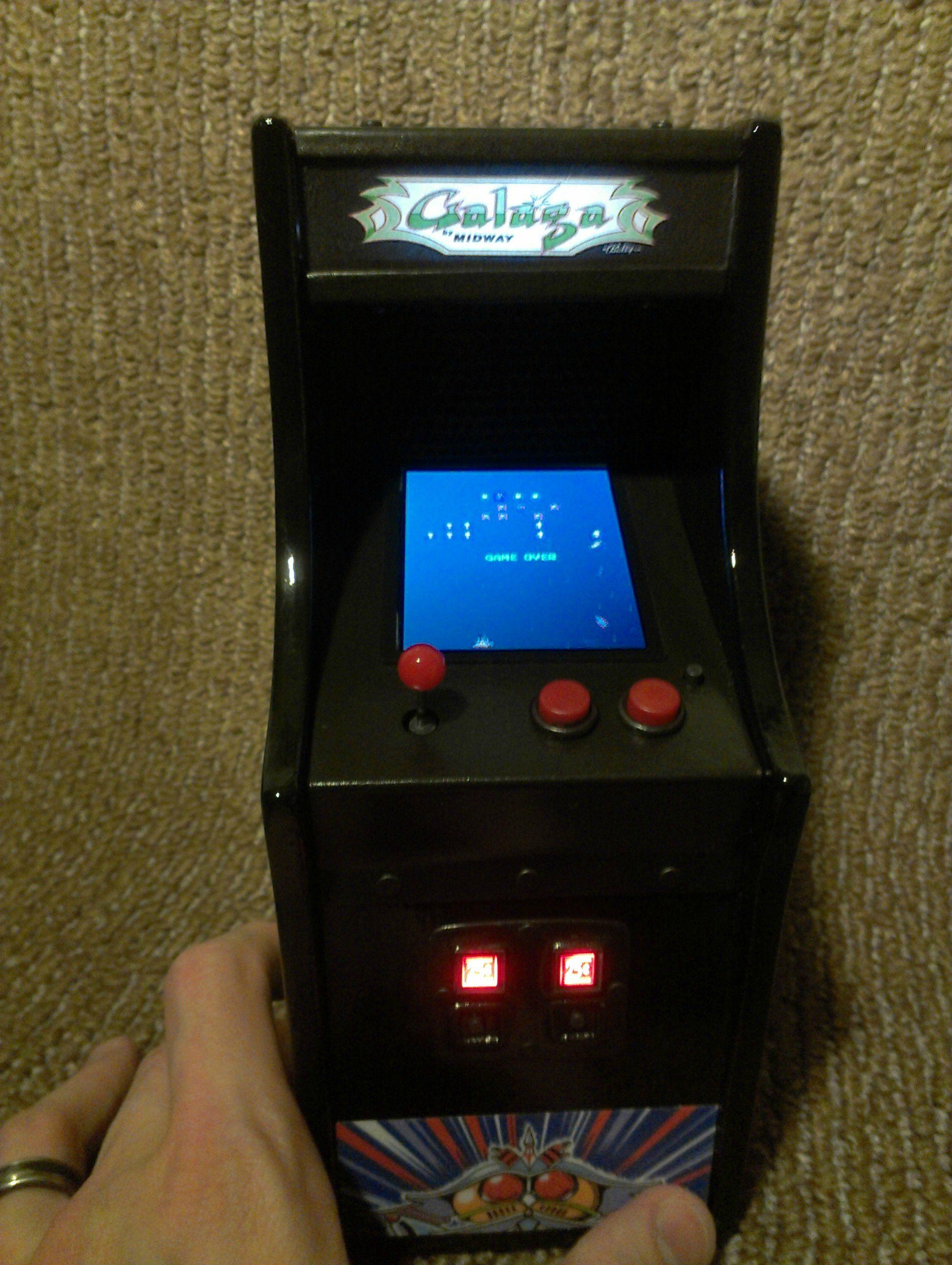 hight resolution of mini galaga arcade machine