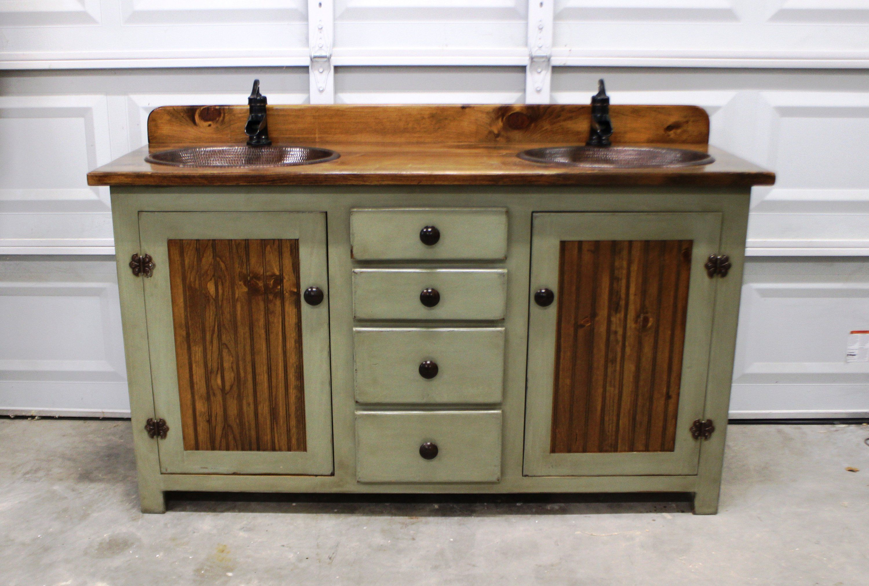 This is our 60 Double Bathroom Vanity from our RUSTIC