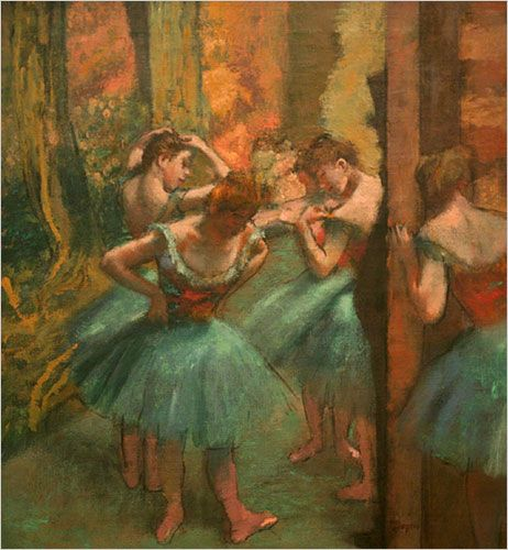 Degas - Dancers, Pink and green
