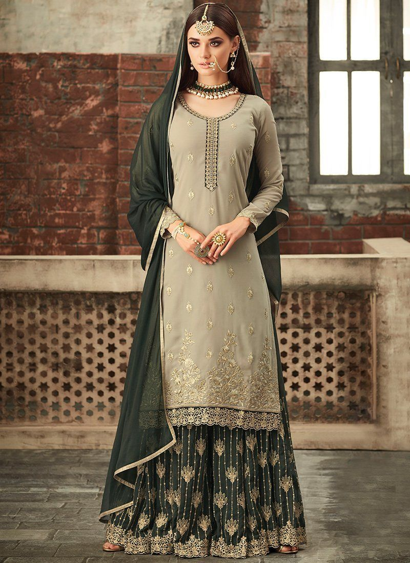 a7c283a32f Shop for Brown Designer Heavy Designer Sharara Salwar Suit. Only 100%  Original Product with High-Quality Fabric Material at Discounted Price.