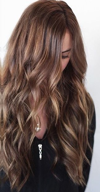 Balayage Brunette Highlights And Extensions Con Imagenes