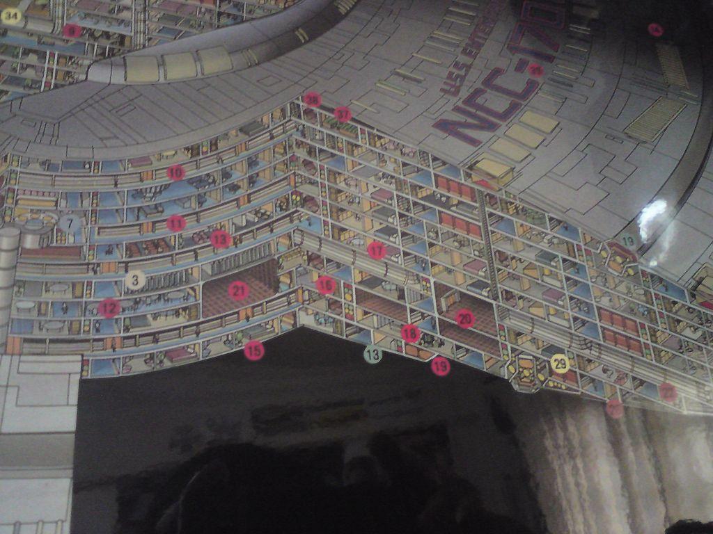 Uss enterprise ncc 1701 d galaxy class saucer separation r flickr - Cutaway Schematic Of The Decks From The Saucer Section Of U S S Enterprise Ncc 1701 D