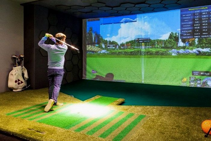 Whatu0027s A Man Cave Without Its Own Golf Simulator? | Golf Driving Range |  Pinterest | Golf Simulators, Men Cave And Golf