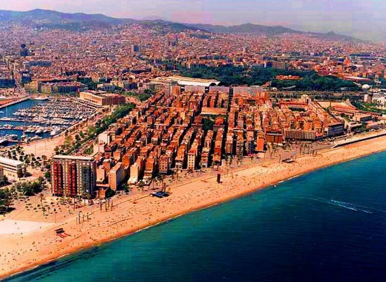 La Barceloneta Barcelona Beach Spain