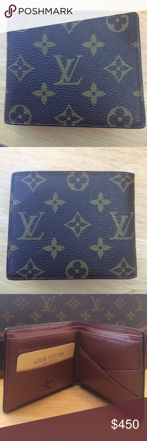 """Louis Vuitton Man's Wallet Gift to my Friends Father that he has never used.  Bought in Paris in 1990s by his Mother.  Found it in his sock drawer...he said """"sell it if you can...I never use it..."""". So here it is...Box and dust cover are long gone but I know it is the real deal.  It's still in excellent, like new condition!!! Louis Vuitton Bags Wallets"""