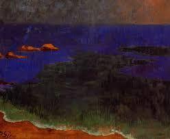 The Sea at Poldu Sunset, 1889 - Paul Serusier