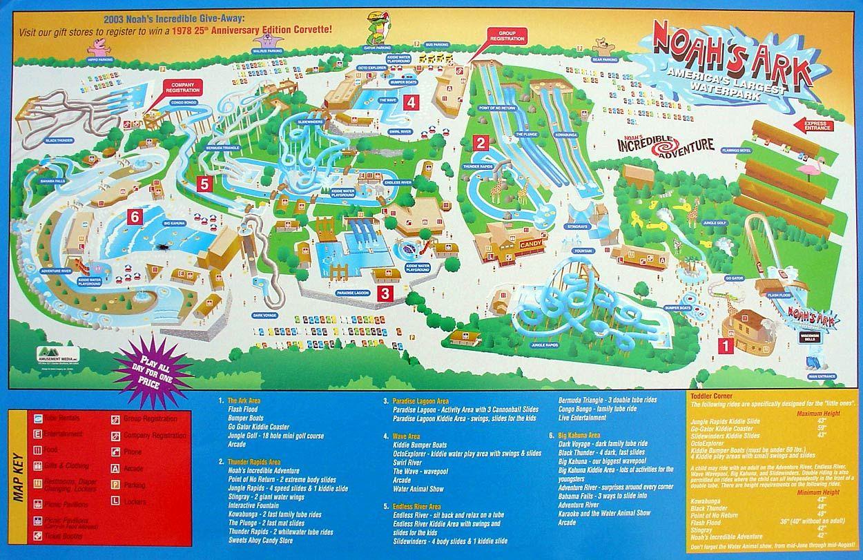 Noah S Ark Water Park Map Wisconsin Dells I Loved This Place Wisconsin Dells Noahs Ark Theme Theme Park