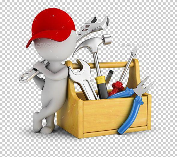 3d Small People Repairman Near The Toolbox Tool Box Stick Figure Animation Repairman