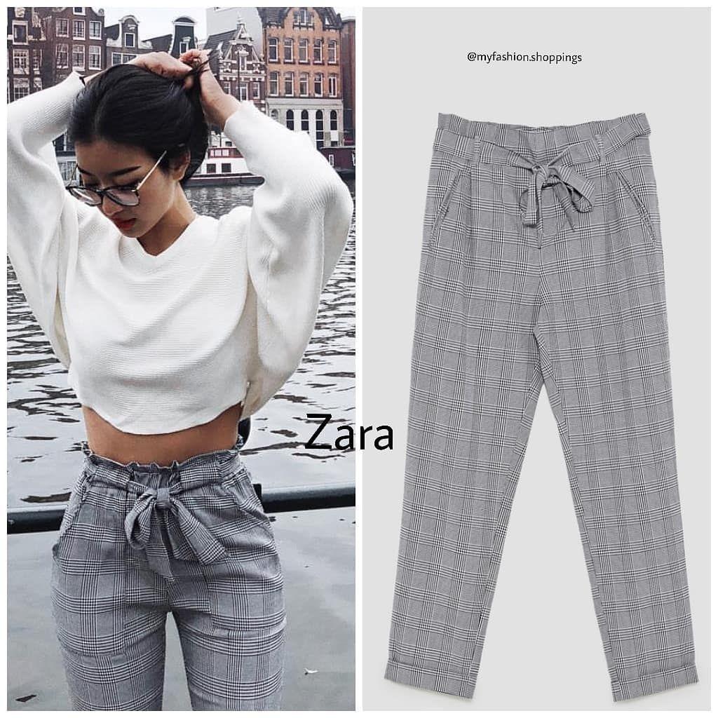 Zara Bu Yil Zara Nin Cok Begenilen Kareli Pantolon Fiyati Icin Sola Kaydirin Gorseller Fashion Pants Sweatpants