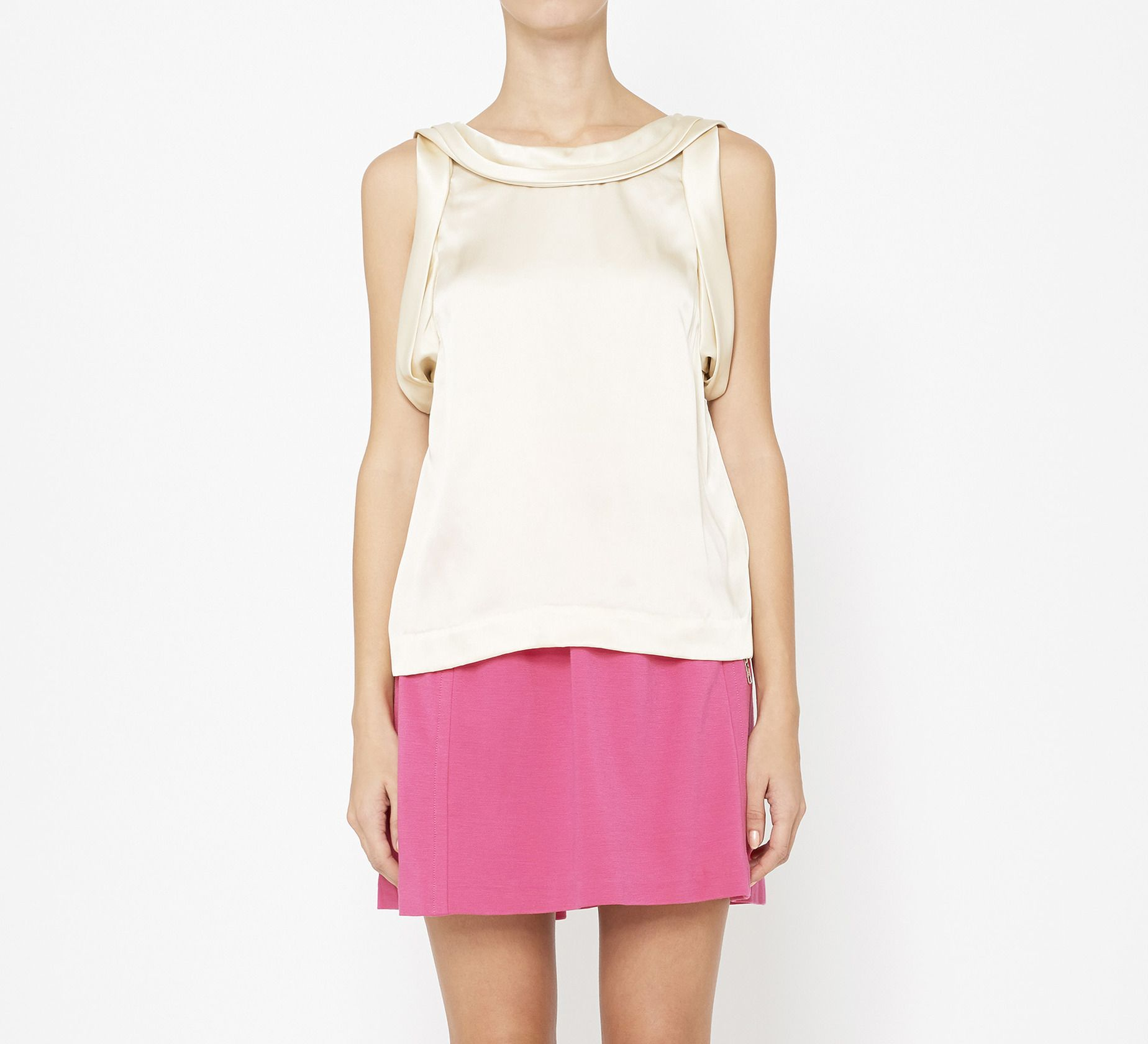 3.1 Phillip Lim Champagne Top: love the back!