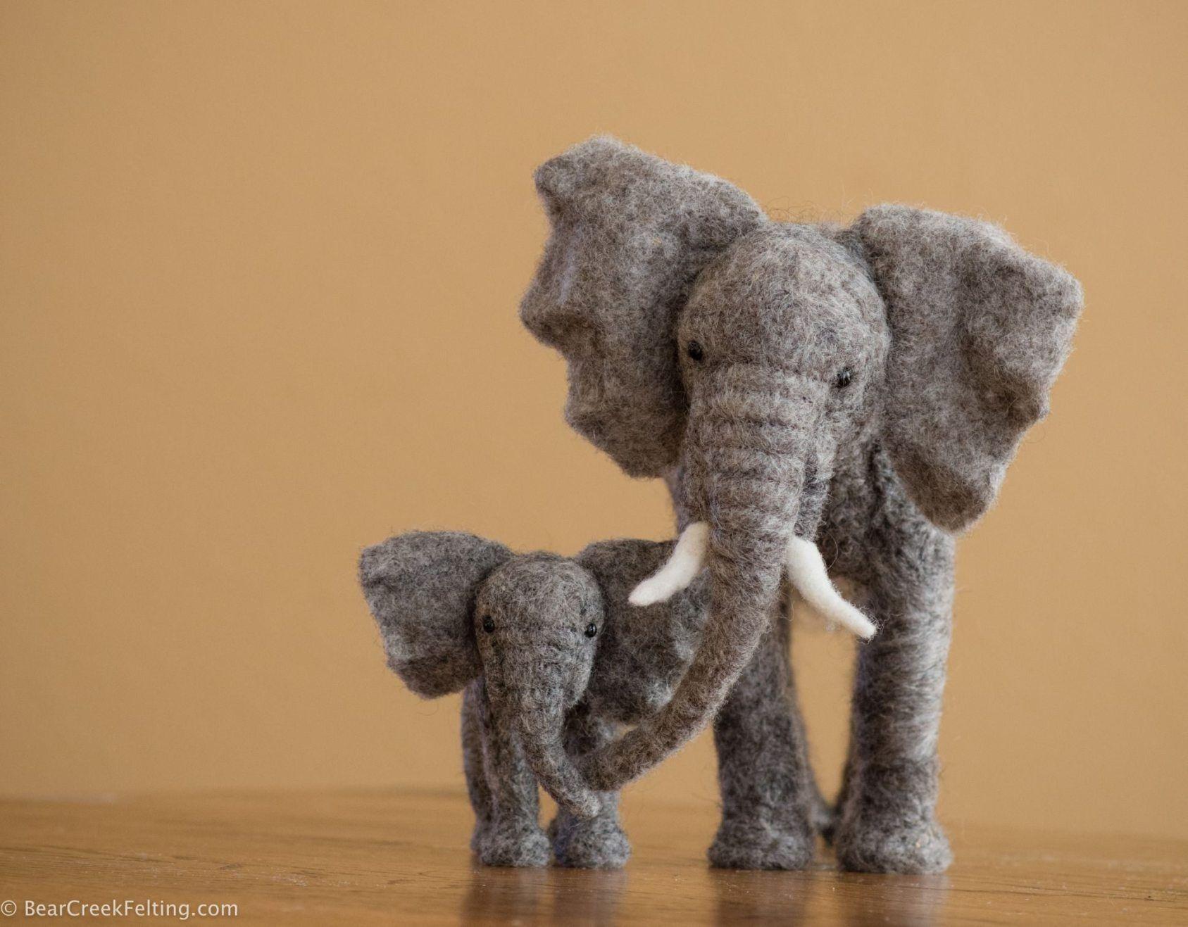 *Needle Felted Art ~ Elephants With Teresa Perleberg  Bear