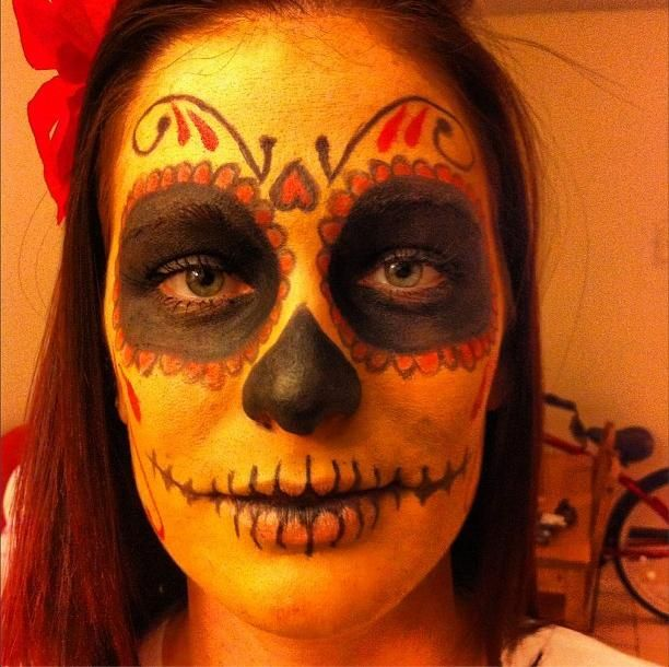 I got a lot of requests for Day of the Dead makeup looks the past couple of years for Halloween.  Lots of detail work, yet still a fun and simple costume to impress your friends.