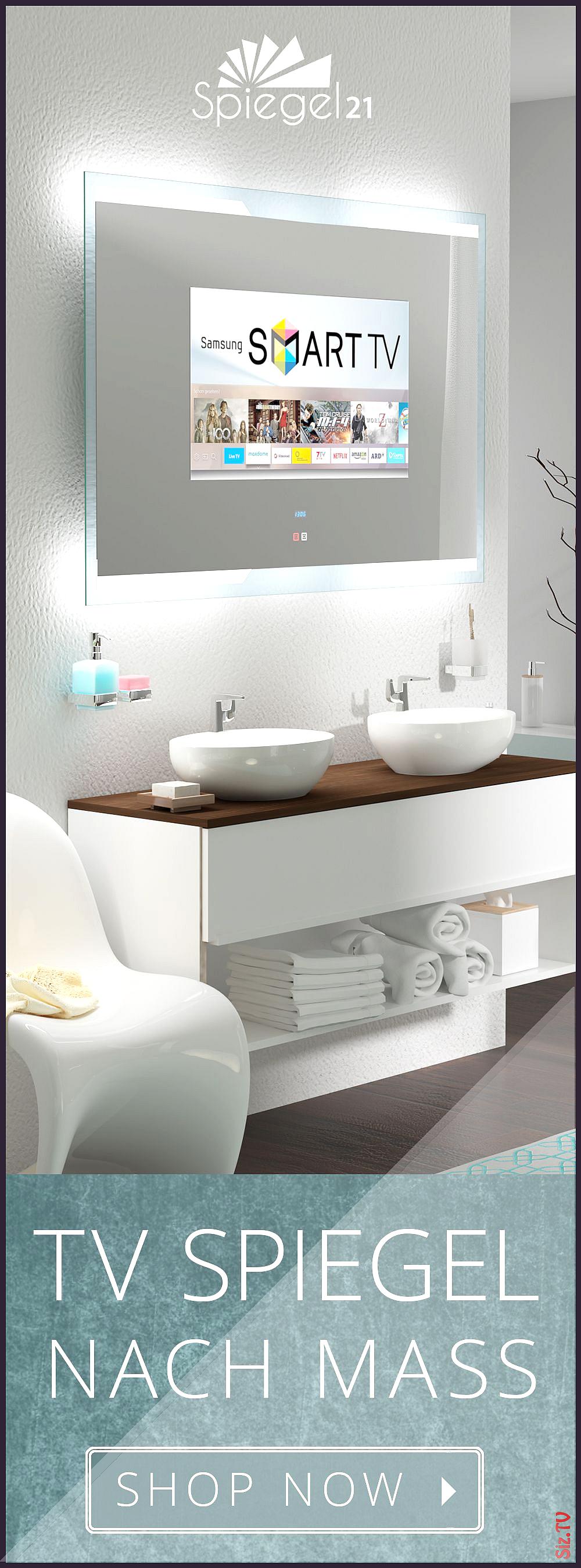 Bad Spiegel Mit Smart Tv 156 Bis 40 Zoll Badspiegel Mit Fernseher