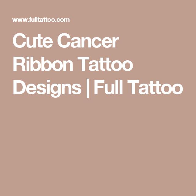 Cute Cancer Ribbon Tattoo Designs | Full Tattoo