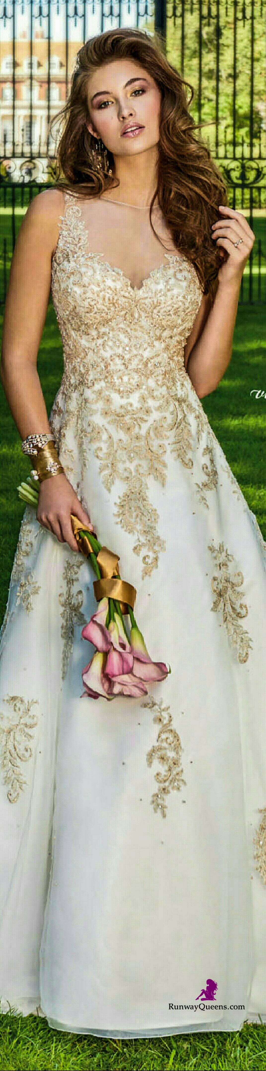 Oprah wedding dresses  Camille Bridal  Gold embroidery  u  Pinteresu