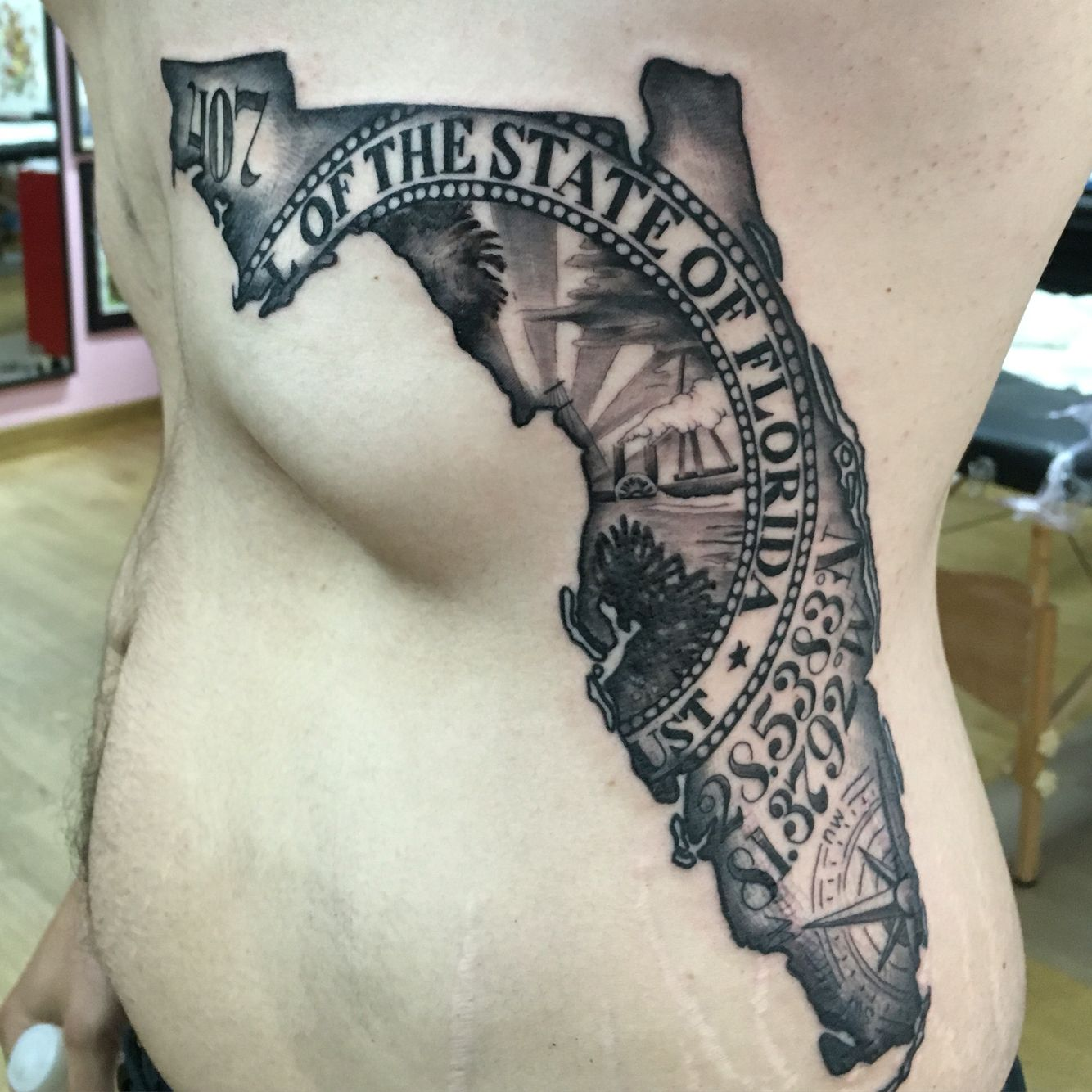 Florida map by japo tats zj me pinterest florida for South florida tattoo