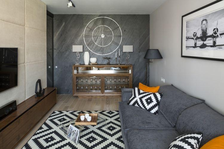 xxl wanduhr metall minimalistisches design wohnzimmer - wanduhren wohnzimmer modern