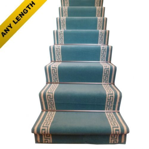 Best Key Light Blue Stair Carpet Runner Narrow Staircase Modern 400 x 300