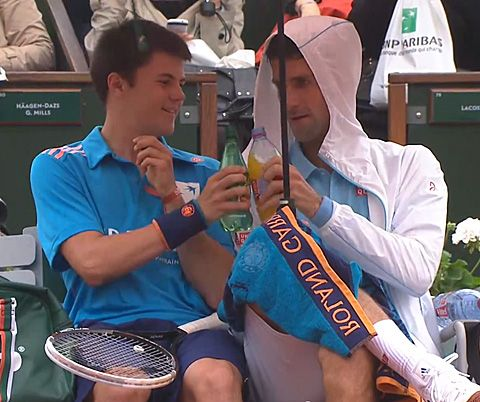 Djokovic Is A Class Act At 2014 French Open Novak Djokovic Djokivic Tennis Players