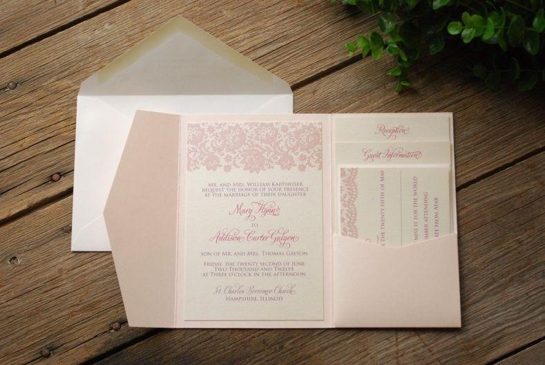 Invitation Kits Wedding Wedding Ideas Pinterest Pocket