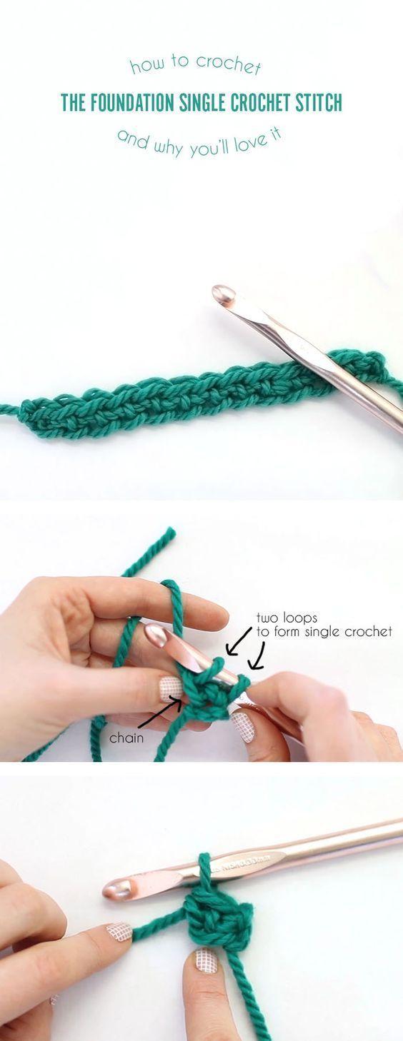 Foundation Single Crochet (FSC) Photo Tutorial | Villa kunterbunt ...
