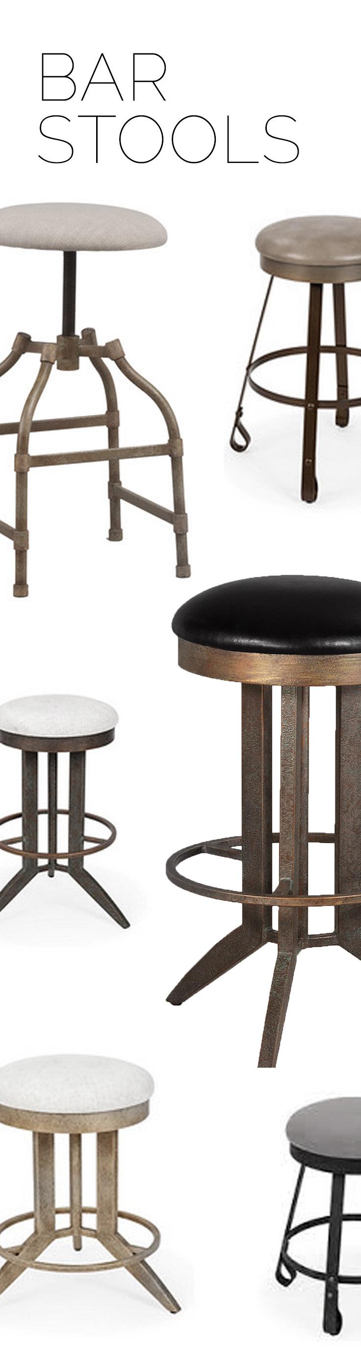 eclectic bar stools custom leather custom finish wesley