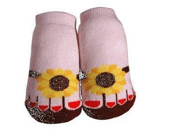JazzyToes Bamboo Collection Sunflower Flip Flop 12-24M