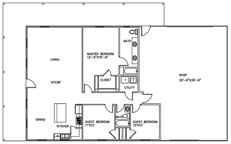 metal building floor plans with living quarters