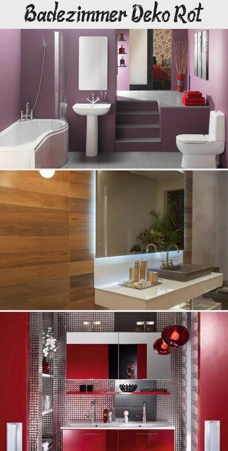 Badezimmer Deko Rot Dekoration In 2020 Bathroom Mirror Lighted Bathroom Mirror Bathroom Lighting