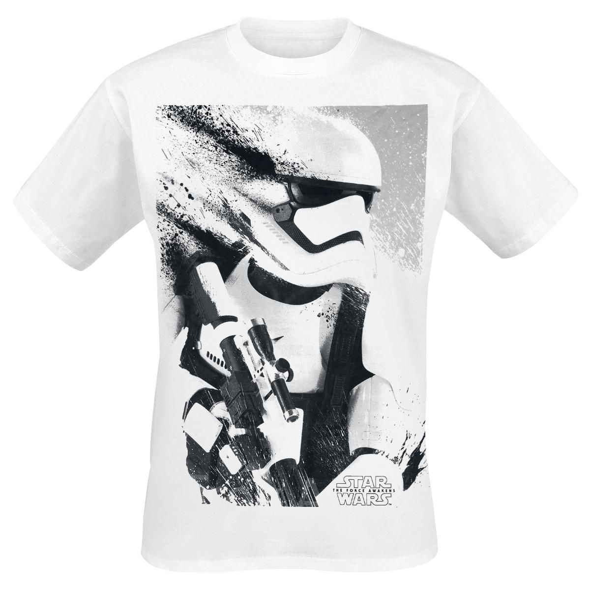 Star Wars - Episode 7 - Stormtrooper - Front großflächig bedruckt -  Rundhalsausschnitt Kunst, Film