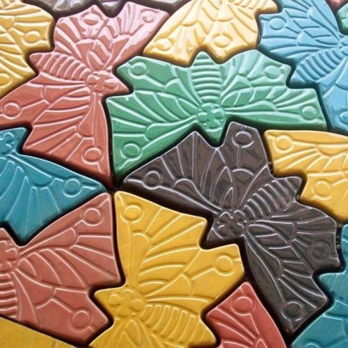 1 Piece Stepping Stone Butterfly Mold Concrete Cement Mould for garden path