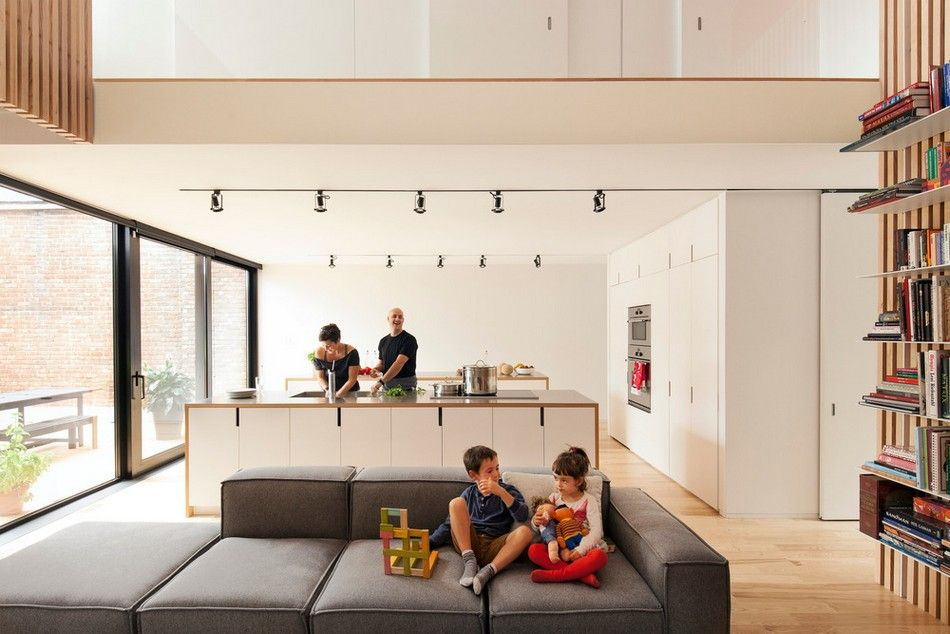 Old duplex converted into welcoming family home de gaspé house in montreal