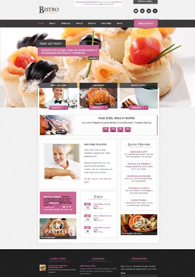 Web para Restaurantes | Favorite Places & Spaces | Pinterest