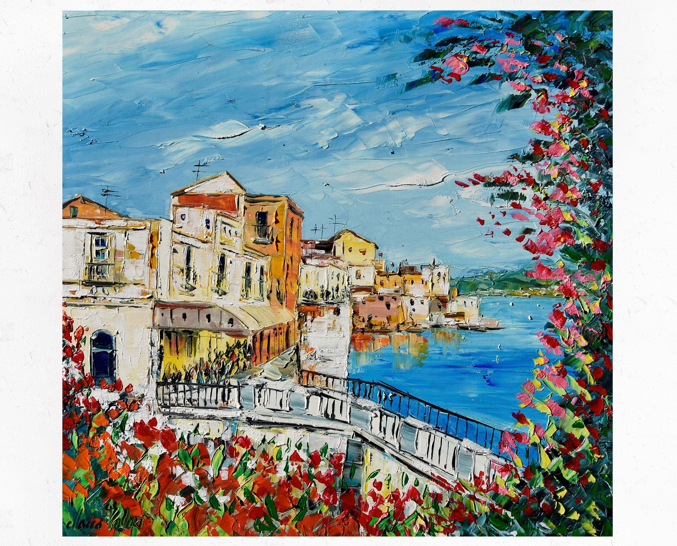 Pittura siciliana su tela, Ortigia, Siracusa, arredamento ...