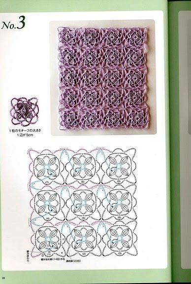 Scheme for non-separable patterns crochet.  (1)