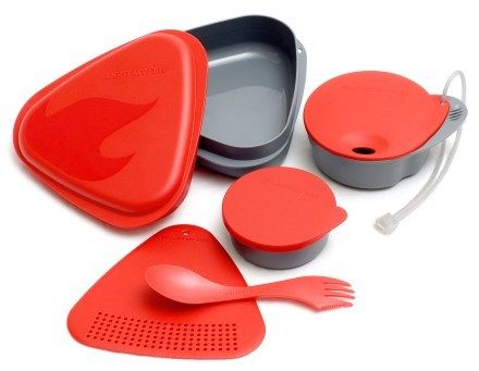Light My Fire camping meal kit - strainer, steamer, plate, bowl, cutlery, tupperware - what more could a girl ask for?