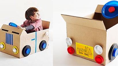 Afbeeldingsresultaat voor auto knutselen van doos
