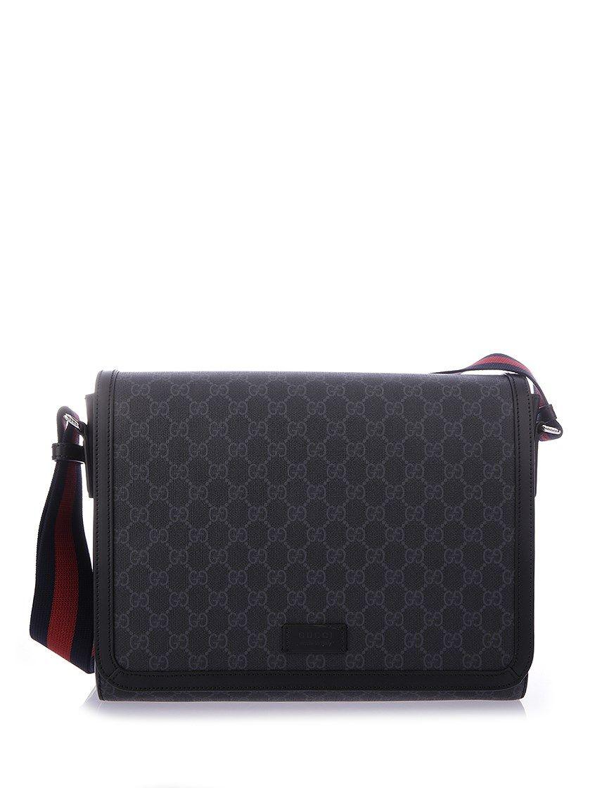 31688e419d269f GUCCI GG Supreme Flap Messenger. #gucci #bags #shoulder bags #leather #pvc #