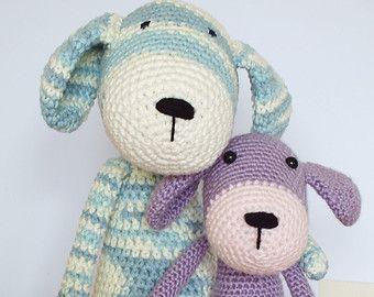 Amigurumi Easy Crochet Patterns : Crochet dog amigurumi pattern instant download pdf easy crochet