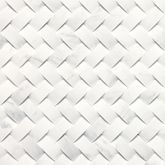 Basketweave Honed Contempo White  M313