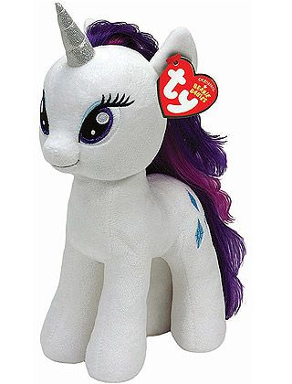 38110571451 Rarity TY Buddy - My Little Pony Plush Toy