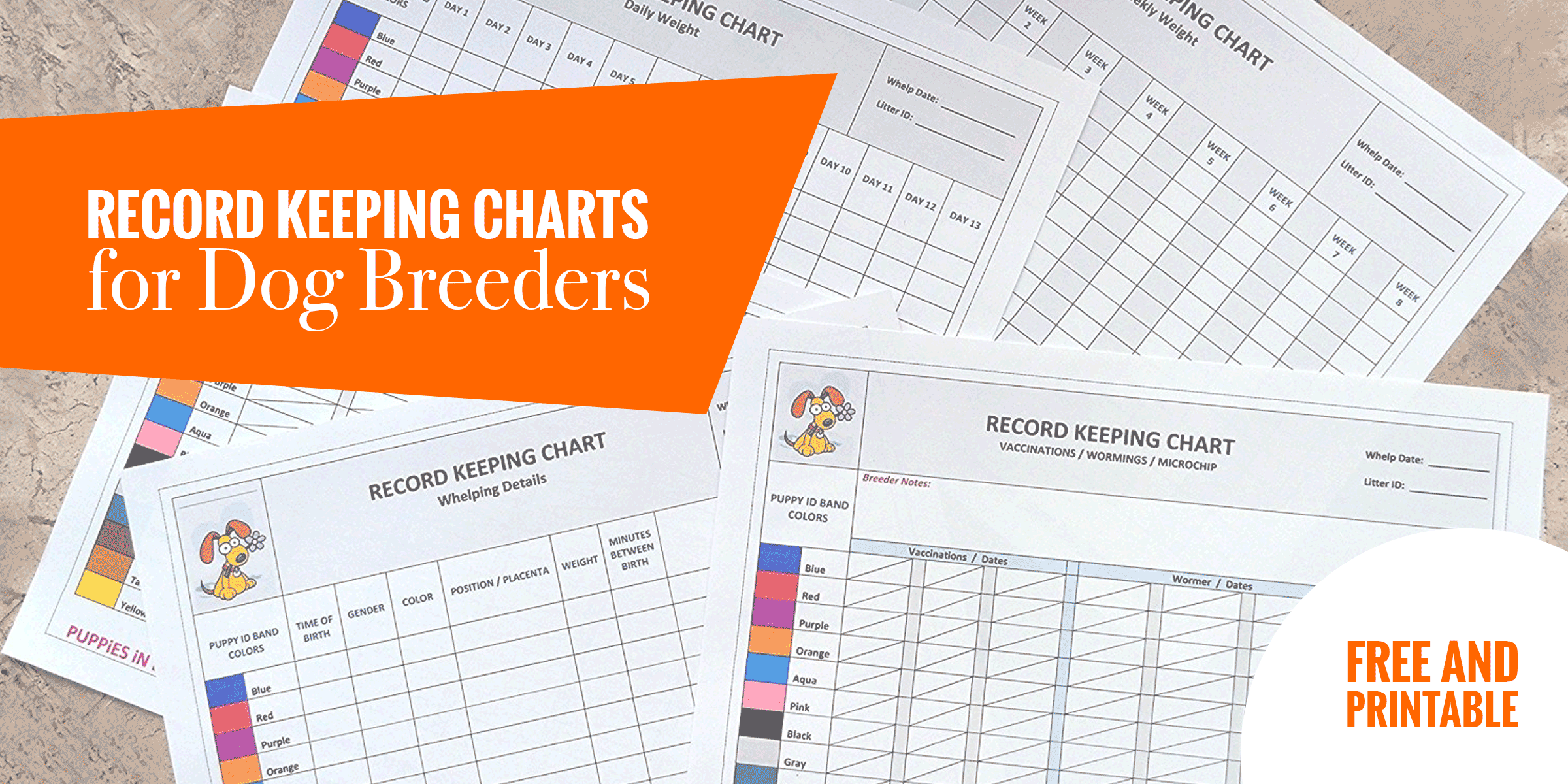 Record Keeping Charts for Breeders — FREE Printable Puppy