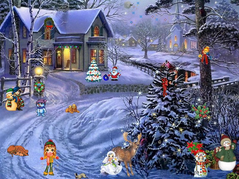 free animated christmas screensavers christmas screensaver christmas paradise - Animated Christmas Scenes