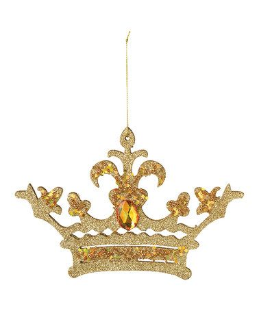 Take a look at this gold glitter crown ornament by for Christmas crown decoration