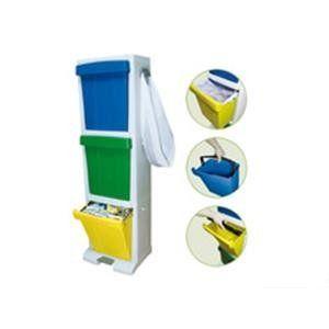 Cubo reciclaje apilable 3 residuos 02011 cervic home for Cubos de reciclaje